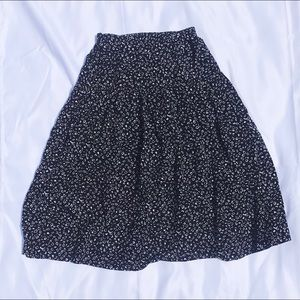 Vintage Tiered Midi Skirt